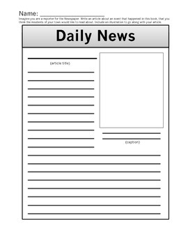 """Daily News"" Post Reading Activity"