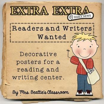 Reading & Writing Goals/Success Criteria Posters