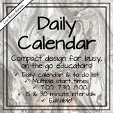 Daily Calendar and Notepad for Busy Educators -- Editable!