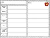 Daily Notes / Tally Behavior Chart
