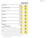 Daily Notes to Parents- Smiley Faces