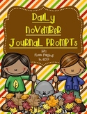 Daily November Journal Prompts (differentiated writing prompts)