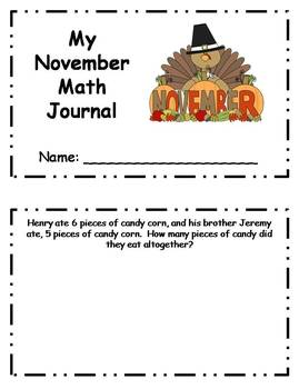 Daily November Math Journal