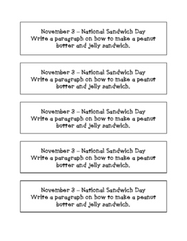 Daily November Writing Prompts