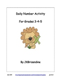 Daily Number Activity (Grades 3-4-5)
