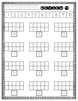 Daily Number Drills for Kindergarten Math RtI