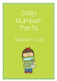 Daily Number Facts - Addition to 20