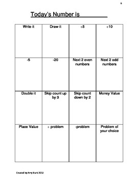 Daily Number Practice - Common Core Friendly