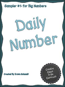 Daily Number Sampler 1-Big Numbers