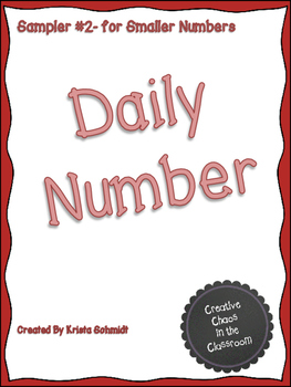 Daily Number Sampler #2- for Smaller Numbers