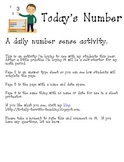 Daily Number Sense Activity