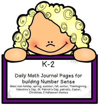 Daily Number Sense Practice - Math Journals for K-2