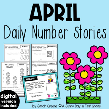 Daily Number Stories APRIL {5 themed weeks!}