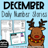 Daily Number Stories DECEMBER {5 themed weeks!}
