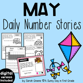 Daily Number Stories MAY {5 themed weeks!}