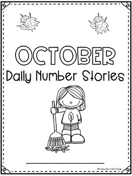 Daily Number Stories OCTOBER {5 themed weeks!}