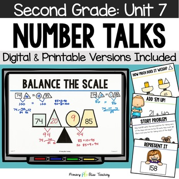 Number Talks / Math Talks ~ March of Second Grade ~ Common Core Aligned