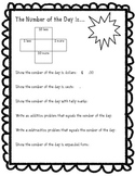 Daily Number of the Day Worksheet
