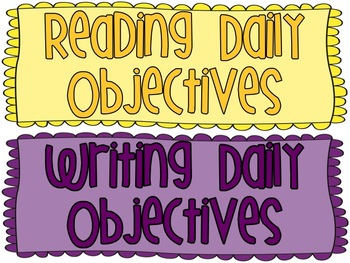 Daily Objective Headings