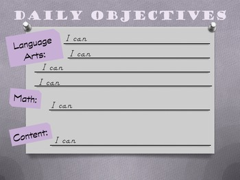 Daily Objective Poster