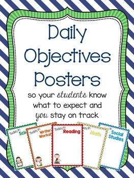 Daily Objective Posters {Reuseable}