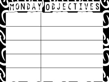 Daily Objectives Display EDITABLE in PowerPoint!!