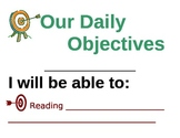 Daily Objectives Poster - large