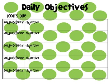 Daily Objectives Poster(s)