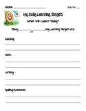 Daily Learning Targets - Student Reflection