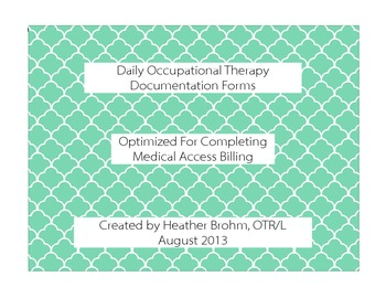 Daily Occupational Therapy Documentation - Landscape