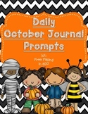 Daily October Journal Prompts (differentiated writing prompts)
