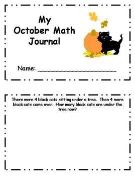 Daily October Math Journal - grades 1-2