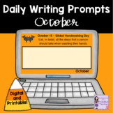 Daily October Writing Prompts