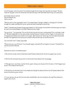 Daily Odds - Literature Lesson Bundle (2 Reading Passages + Activities)