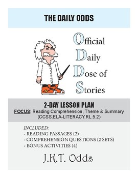Daily Odds - RL 5.2 Reading Comprehension, Theme, Summary - Lesson Bundle