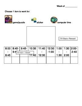 Daily On-Task Behavior Reward Chart