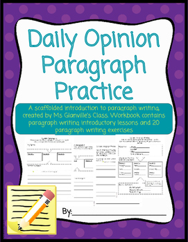 Daily Opinion Paragraph Practice