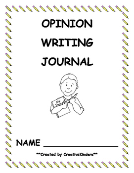Daily Opinion Writing Journal