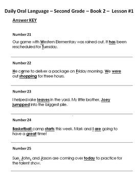 Daily Oral Language Worksheets