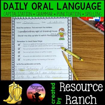 Daily Oral Language 3rd Grade Worksheets Teaching