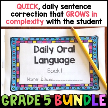 Daily Oral Language (DOL) BUNDLE: Aligned to the 5th Grade CCSS