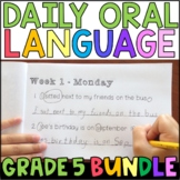 Daily Oral Language (DOL) BUNDLE: Aligned to the 5th Grade CCSS • with GOOGLE