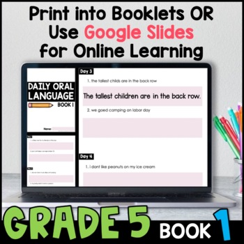 Free daily oral language worksheets first grade