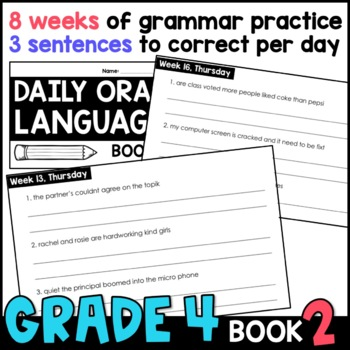 Daily Oral Language (DOL) Book 2: Aligned to the 4th Grade CCSS