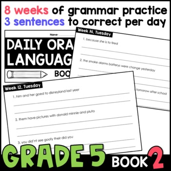 Daily Oral Language (DOL) Book 2: Aligned to the 5th Grade CCSS