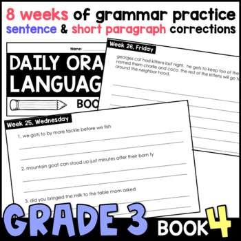 Daily Oral Language (DOL) Book 4: Aligned to the 3rd Grade CCSS