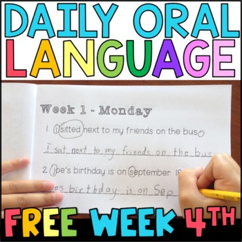 Daily Oral Language (DOL): FREE Week for 4th and 5th Grades