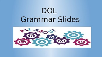 Daily Oral Language (DOL) PowerPoint Slides