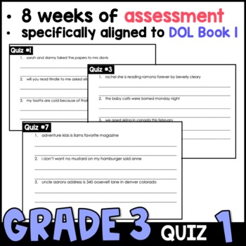 Daily Oral Language (DOL) Quiz Set #1: Aligned to 3rd Grade Common Core