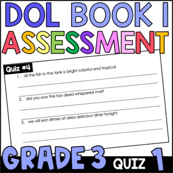 Daily Oral Language (DOL) Quiz Set #1: Aligned to 3rd Grad